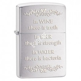 """Zippo upaljac """"In wine there is truth"""""""